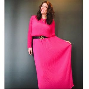 Vintage | Miss Elliette Raspberry Maxi Dress